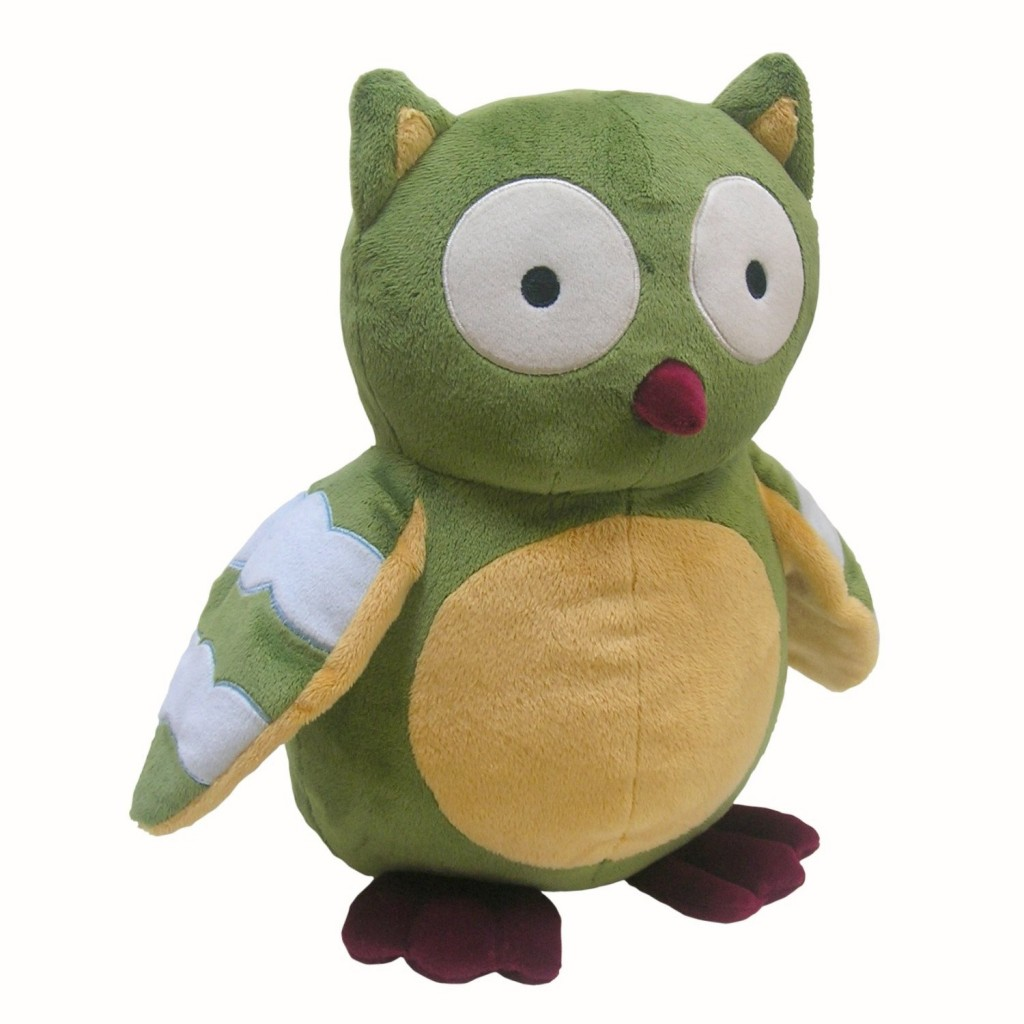 Cute Forest Plush Owl, Green