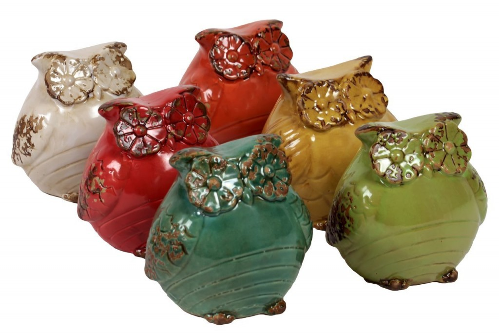 Decorative Ceramic Owls
