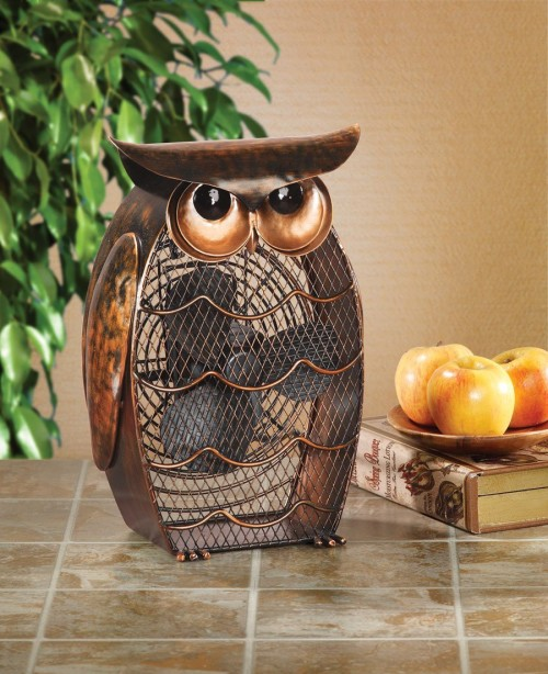 Owl Decorative Fan
