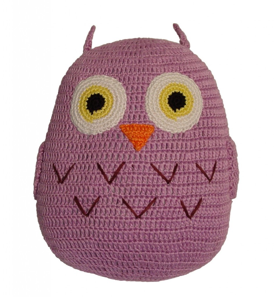 Yarn Owl Throw Pillow