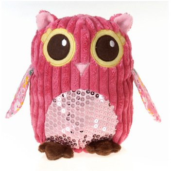 pink plush owls