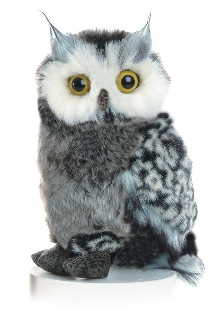 Realistic Plush Great Horned Owl