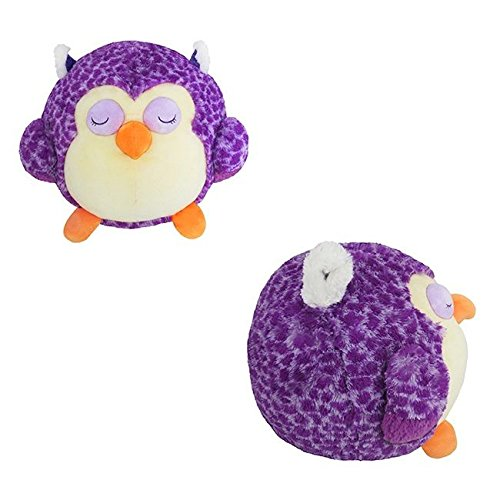 sleepy round plush owl