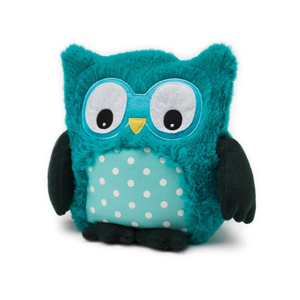 Adorable Microwaveable Scented Plush Owl, Turquoise