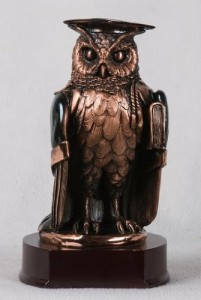 Copper Owl Sculpture