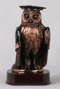 Copper Owl Sculpture