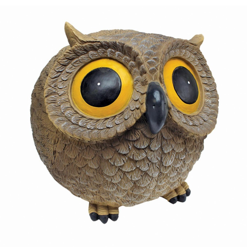 funny owl statue