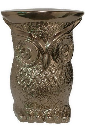Golden Owl Garden Stool