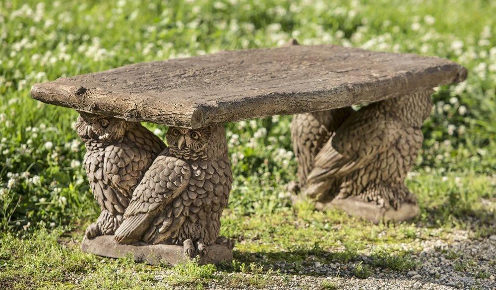 Stone Owl Bench