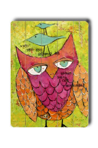 colorful owl artwork