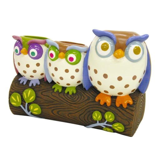 Owls Resin Toothbrush Holder
