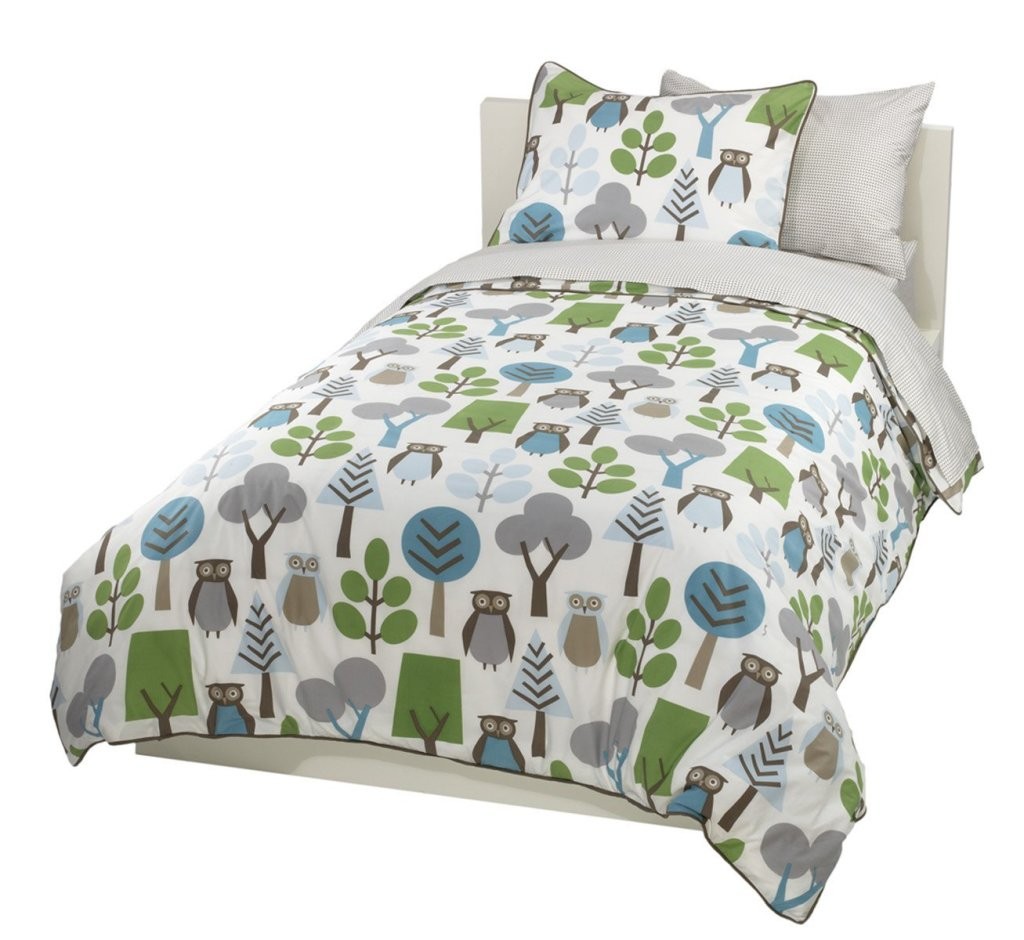 Owl Bedding For Adults - Fun owls and trees duvet set