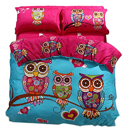 Cute Owl Bedding Set For Girls