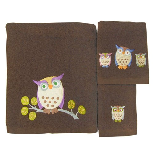 cute owl towel set