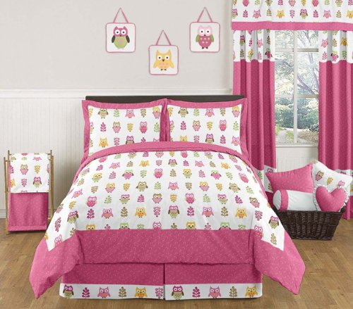 owls bedding set for girls