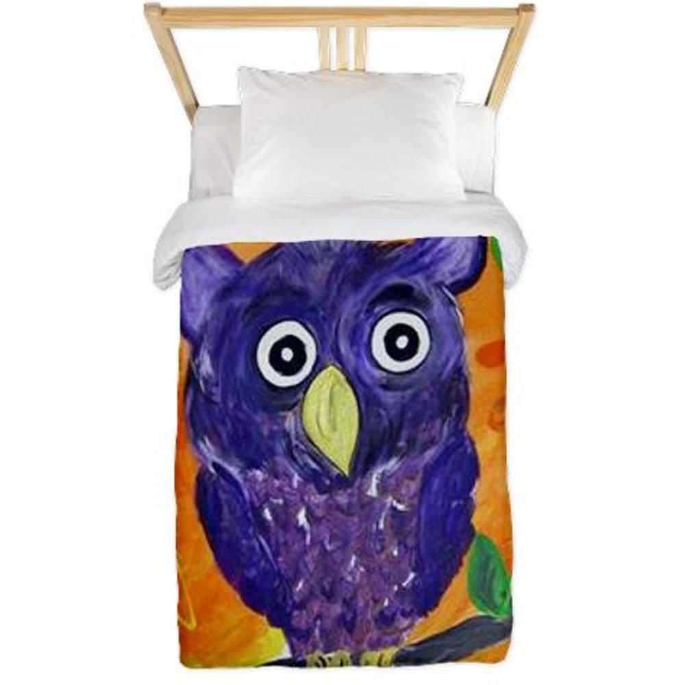 Purple Owl Twin Duvet Cover