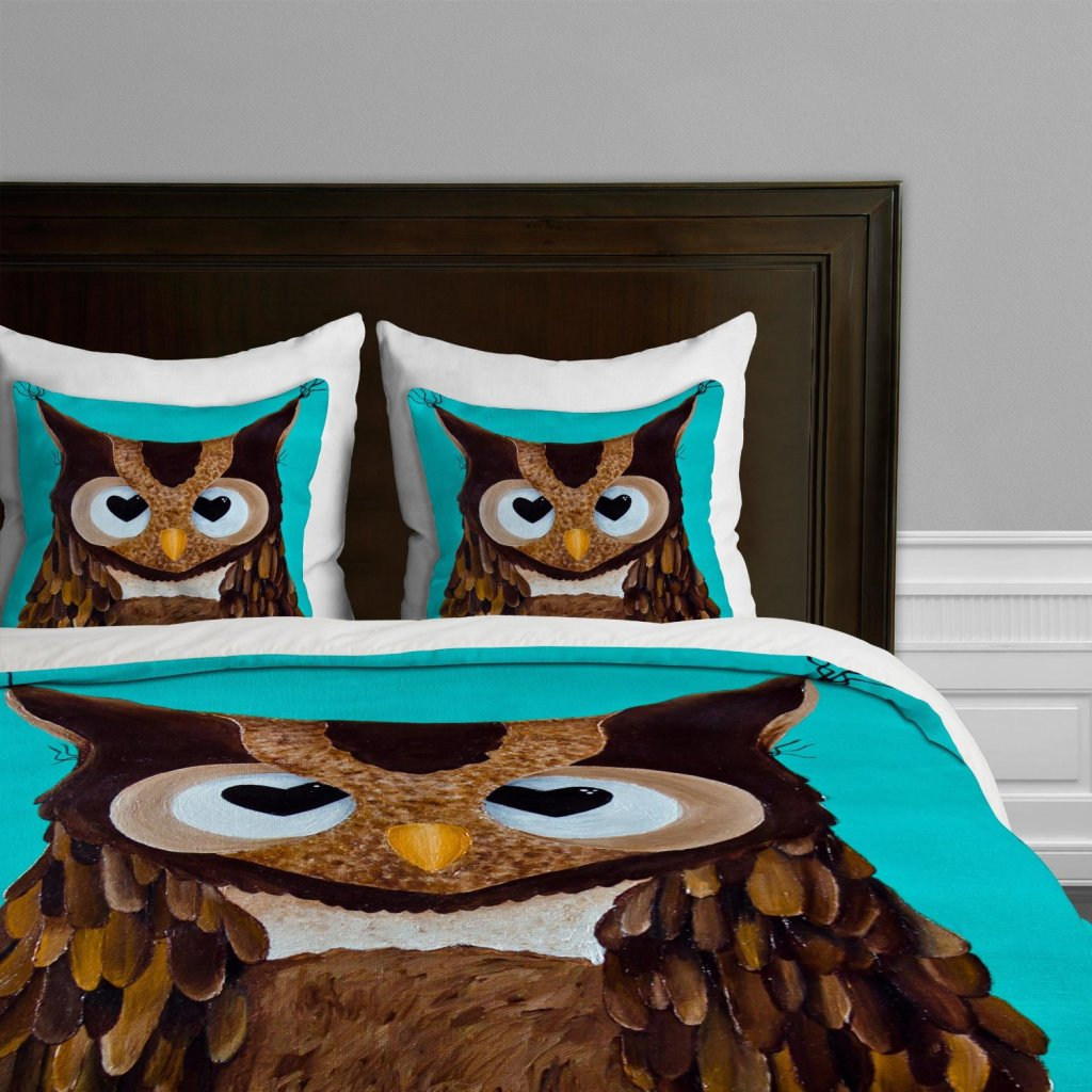 Owl Love You Duvet Cover, Queen