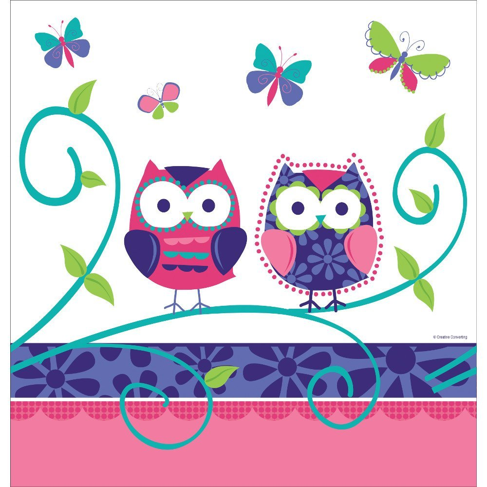 Owl Pal Plastic Banquet Table Cover