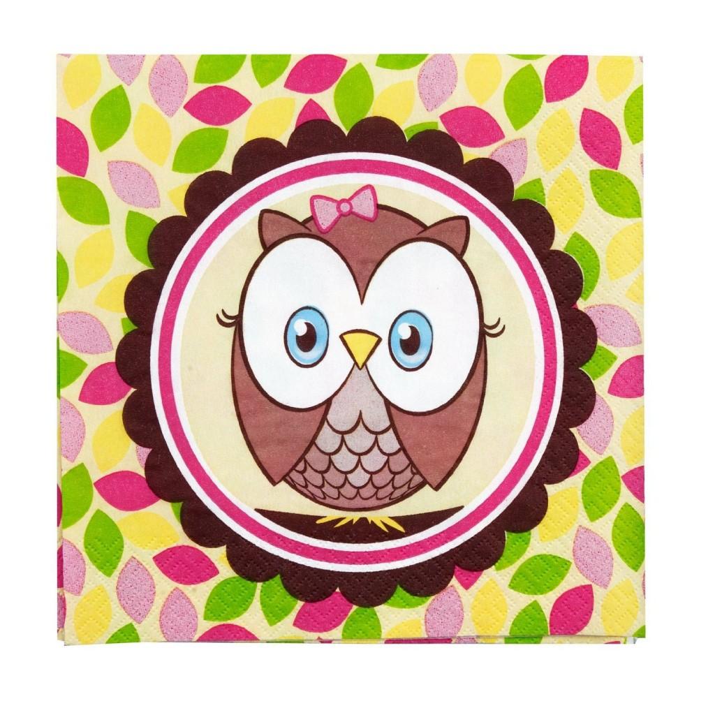 owl napkins