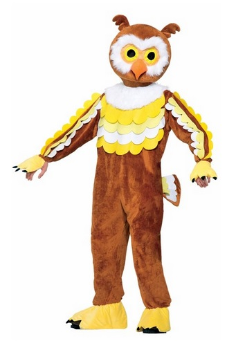 Plush Owl Mascot Costume for Adults