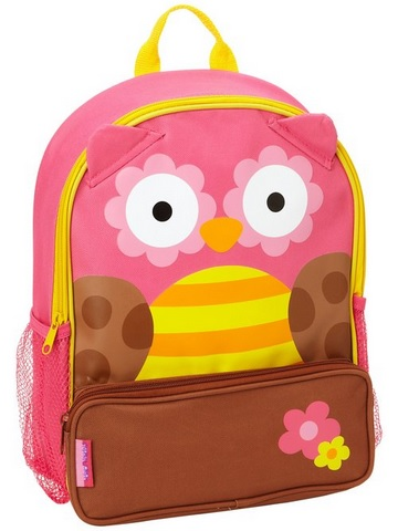 pink owl backpack for girls