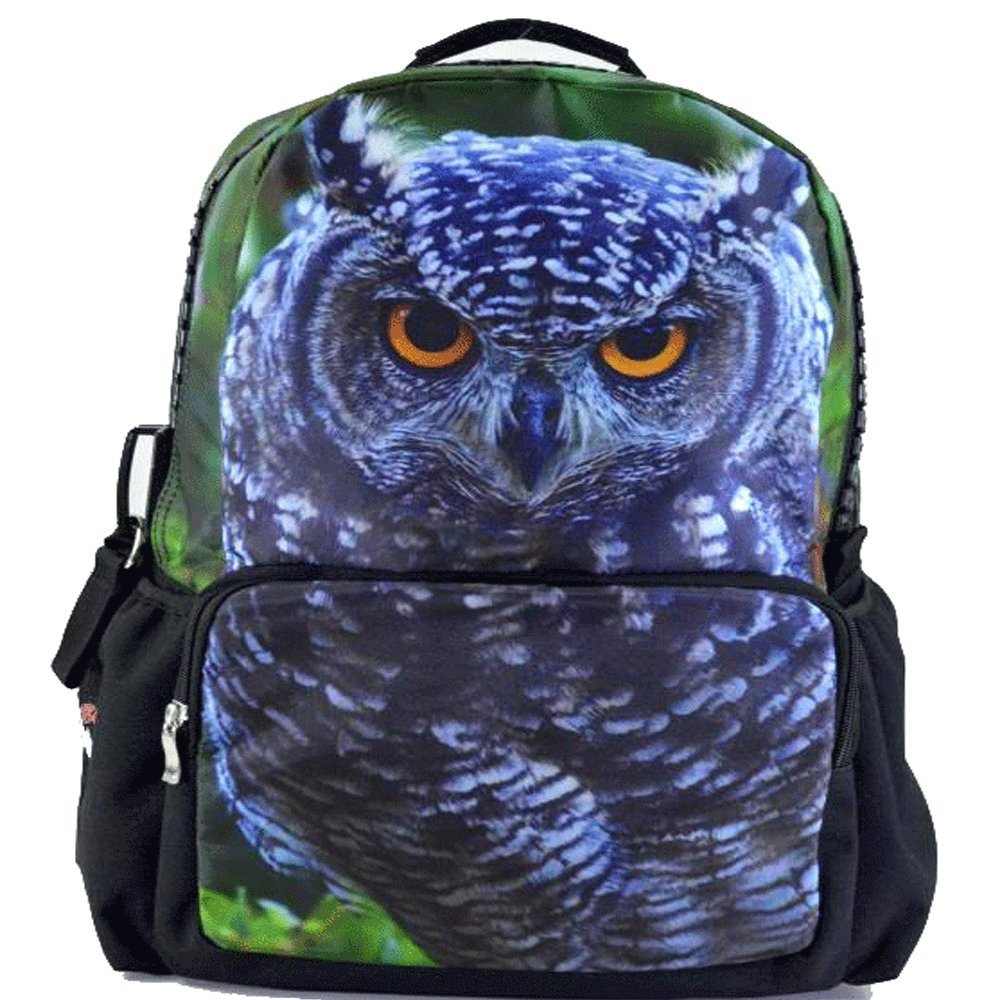 owl Print School Backpack
