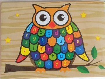 fun owl puzzle for toddlers