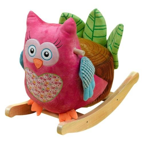 Adorable Pink Owl Rocker