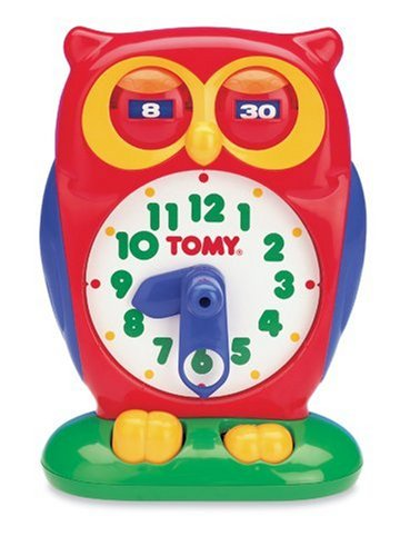 Cute Red Owl Teaching Clock for Kids