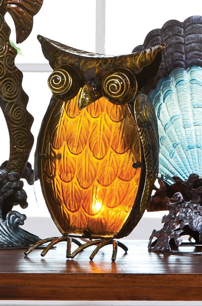 cool metal owl shaped lamp