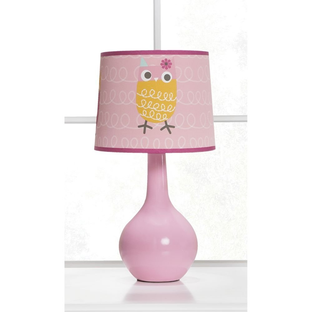 Adorable Pink Owl Table Lamp for Girls