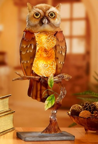 cute owl shaped light