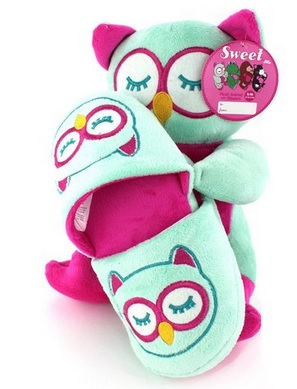 Adorable Plush Owl Slippers for Girls