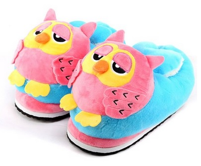 cute owl Plush Slippers for girls