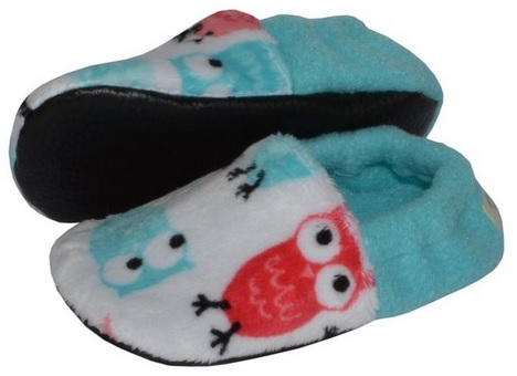 Cute Fleece Owl Slippers for Toddlers