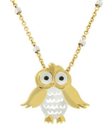Cute Gold Owl Necklace