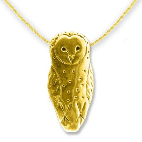 gold owl shaped pendant