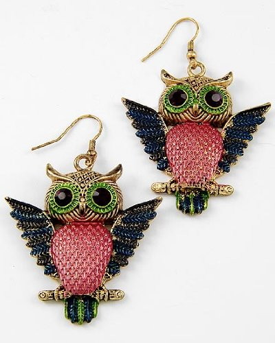 Cute Owl Dangle Earrings