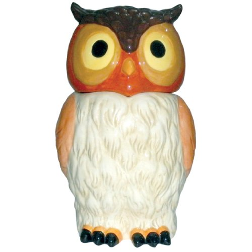 Tall Ceramic Owl Cookie Jar