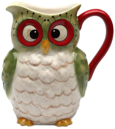 Cute Owl Ceramic Pitcher