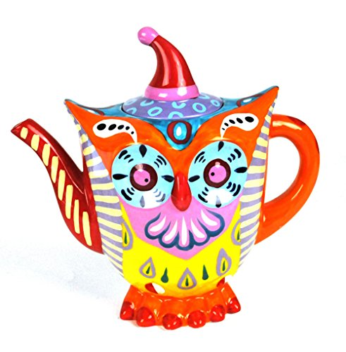 Colorful Owl Teapot for Sale