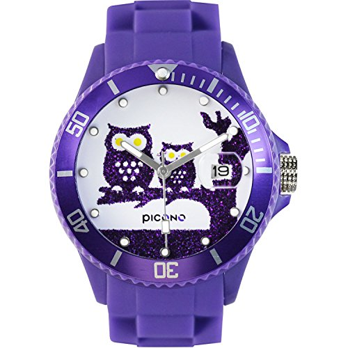 Cute Purple Owls Sports Watch