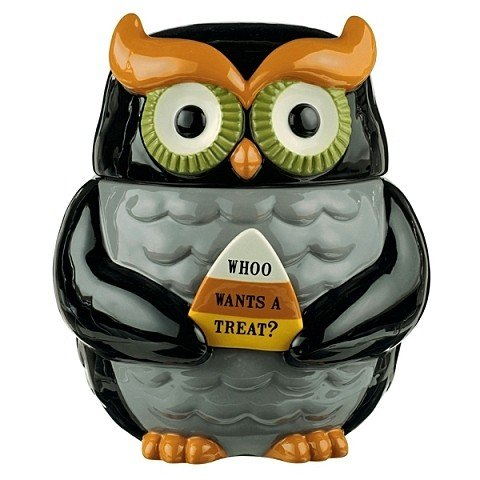 Fun Halloween Owl Cookie Jar