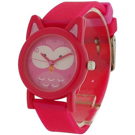 Pink Owl Design Watch for Girls