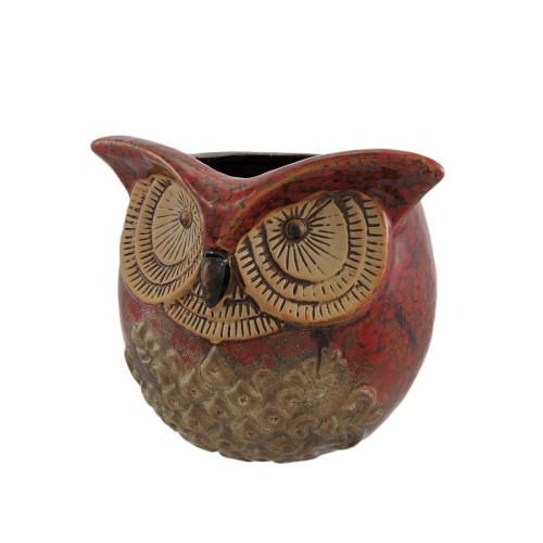 Ceramic Owl Head Planter