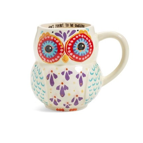Happy Owl Shaped Coffee Mug