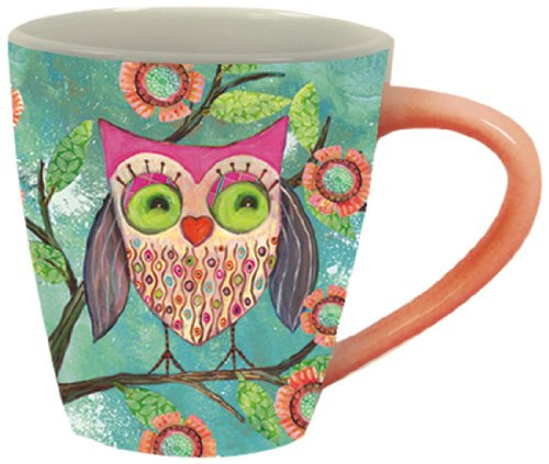 Happy Owl Cafe Mug