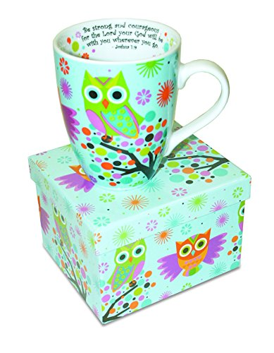 Inspirational Cheerful Ceramic Owl Mug