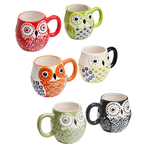Owl Design Ceramic Coffee Mugs