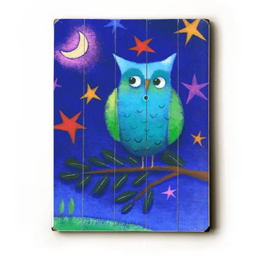 Cute Night Owl Wood Sign